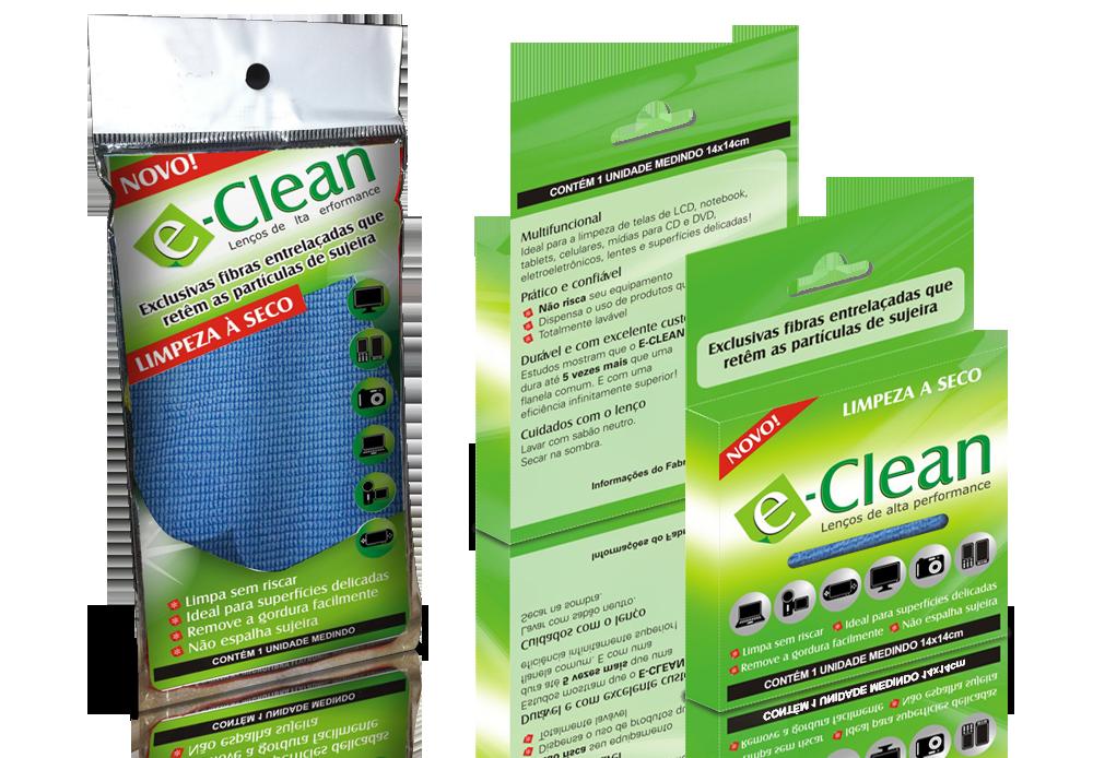 Embalagem Lenços E-Clean